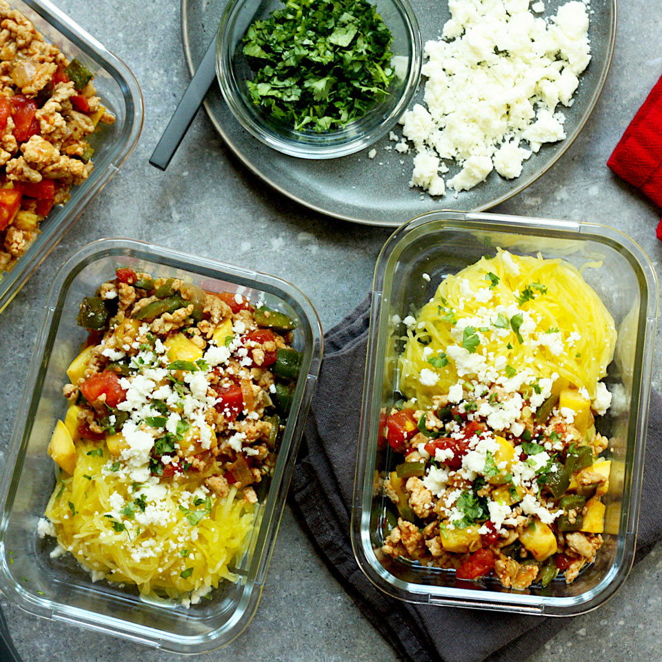 Mexican Spaghetti Squash Meal-Prep Bowls Trusted Brands