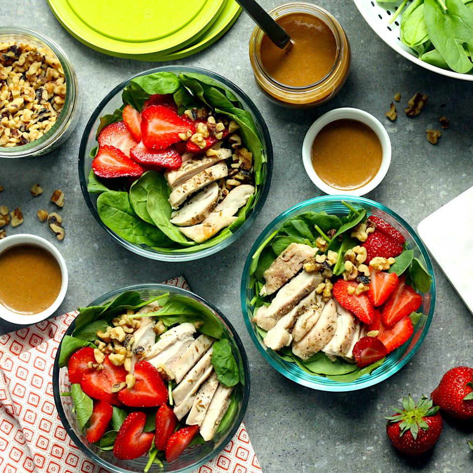 Spinach & Strawberry Meal-Prep Salad Carolyn A. Hodges, R.D.