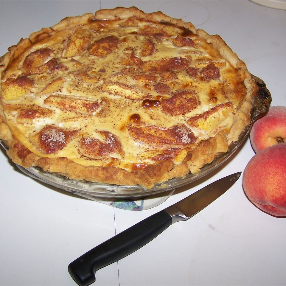 Peach Custard Pie III