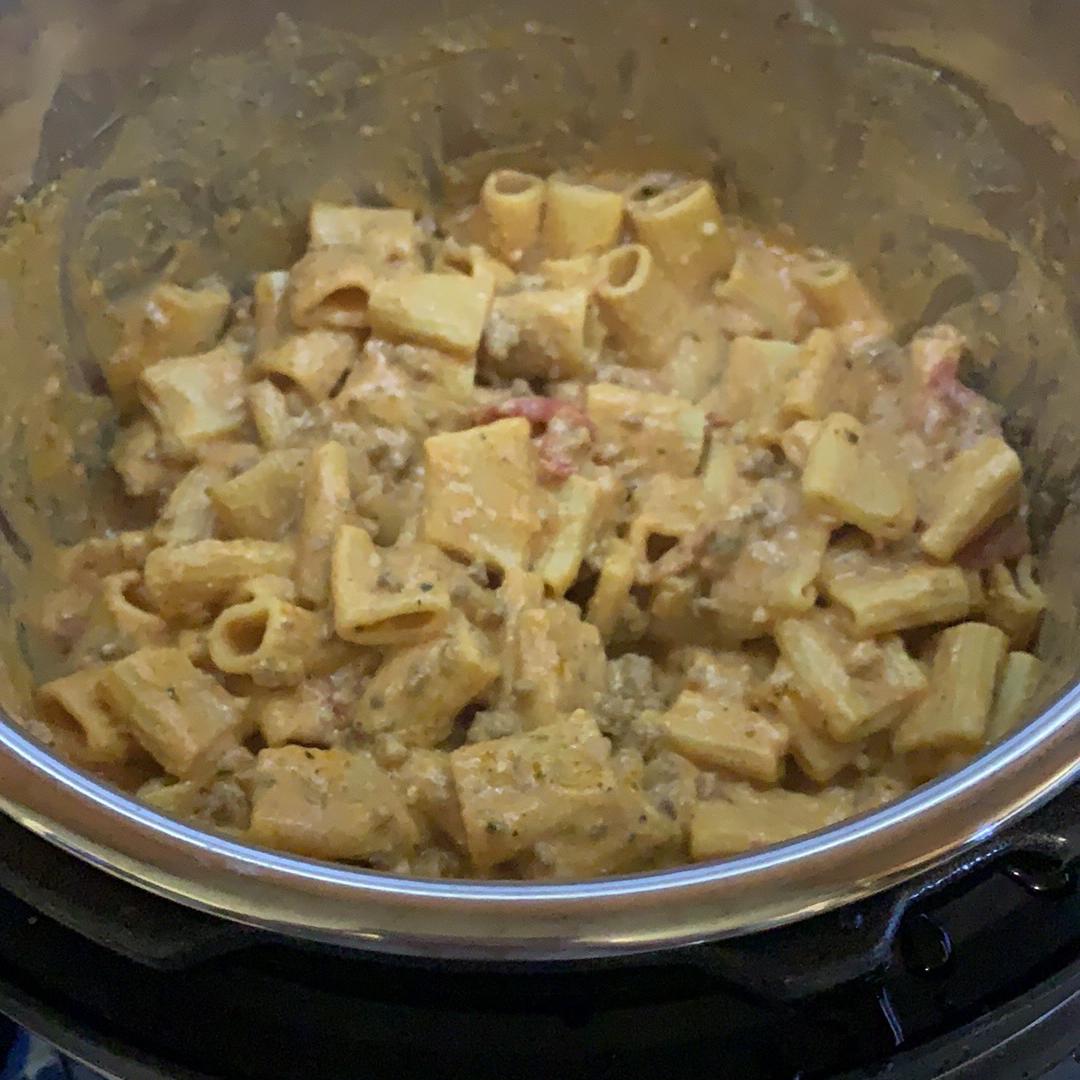 Pressure Cooker Messy Lasagna