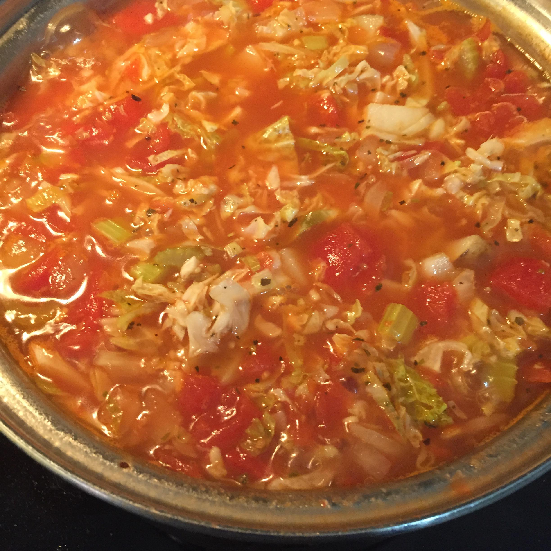 Cabbage, Potato, and Tomato Soup