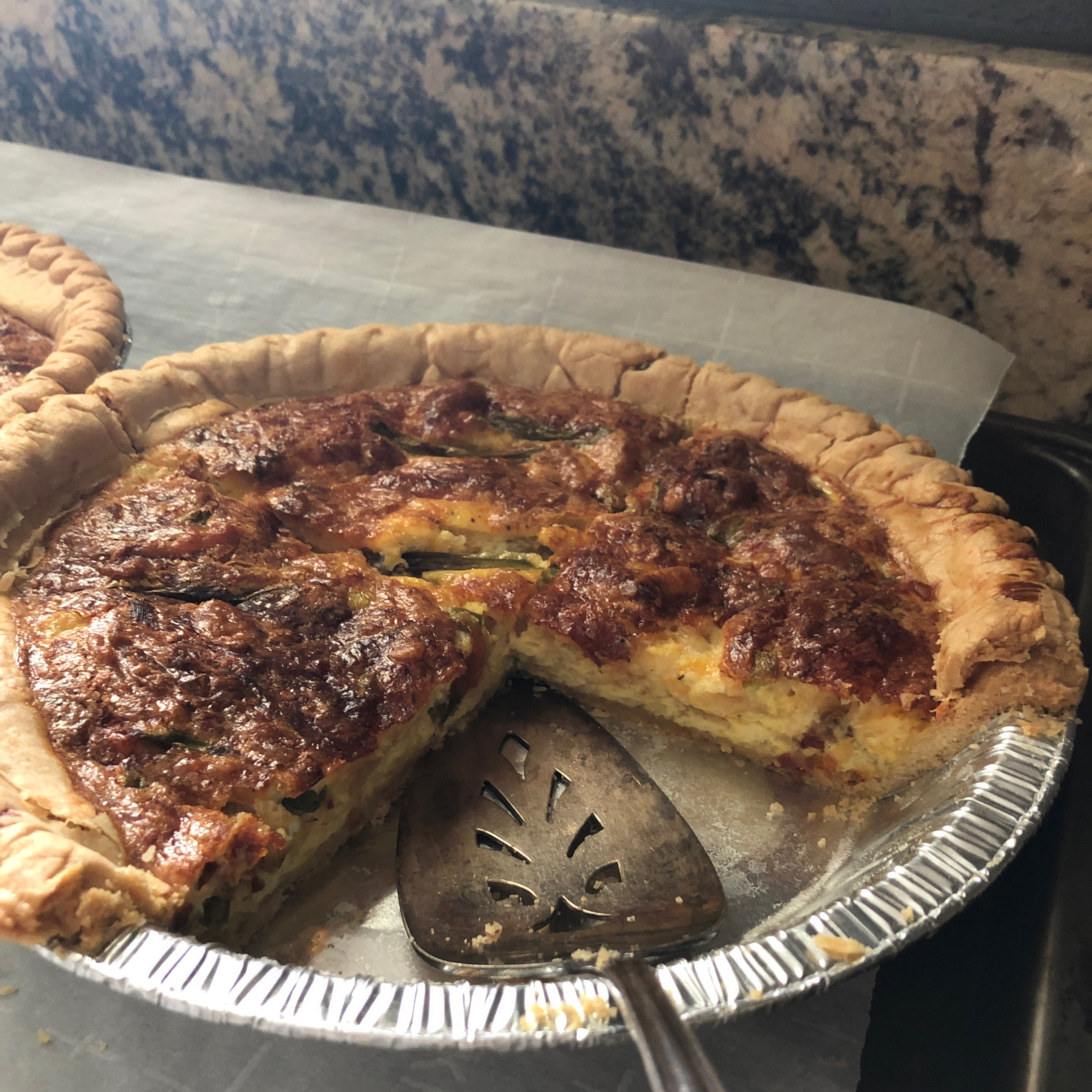 Asparagus and Swiss Cheese Quiche