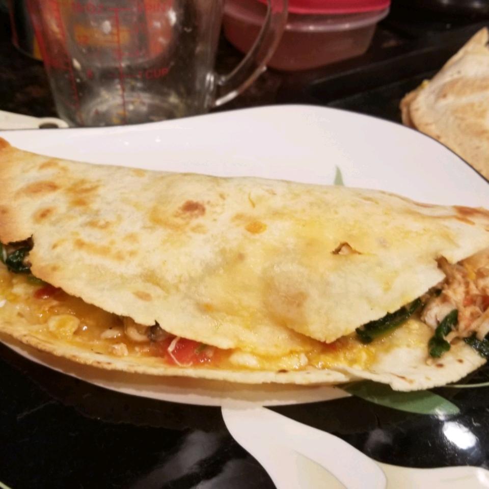 Chicken, Tomato, and Spinach Quesadillas Kathy Imbrogno