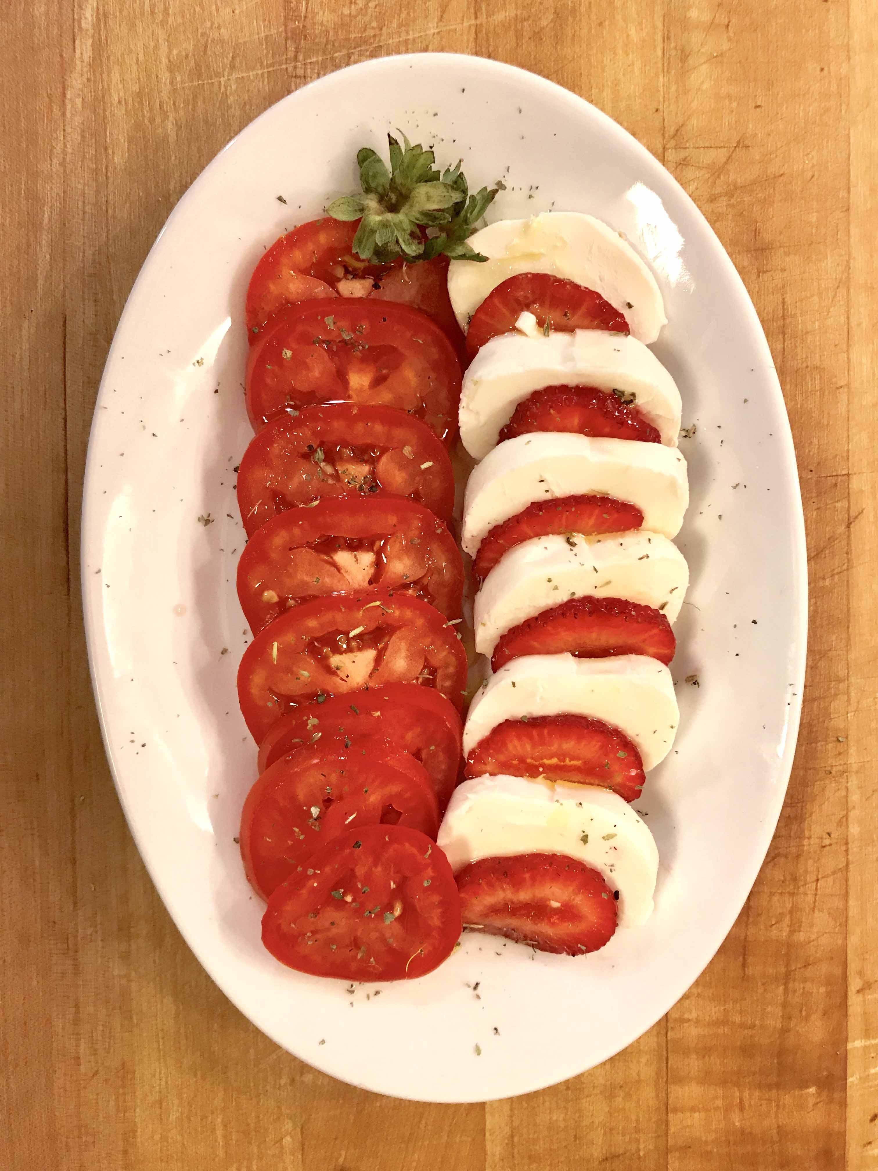 Strawberry-Tomato Caprese Salad