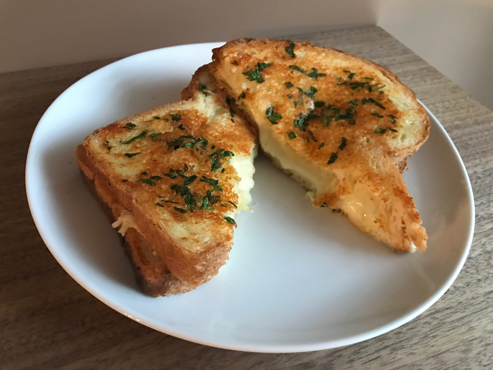 Garlic Bread Grilled Cheese Kimberly Holland