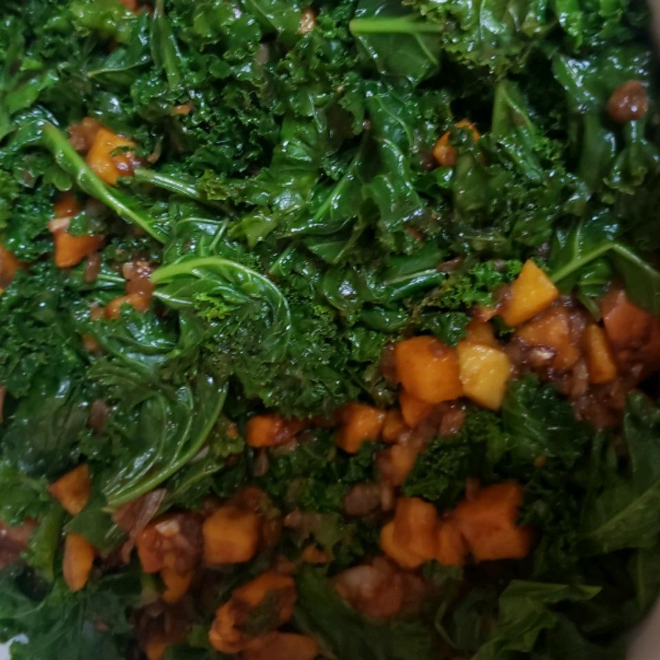 Balsamic Butternut Squash with Kale Barbara Roam