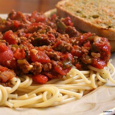 lots oveggies sausage spaghetti sauce recipe