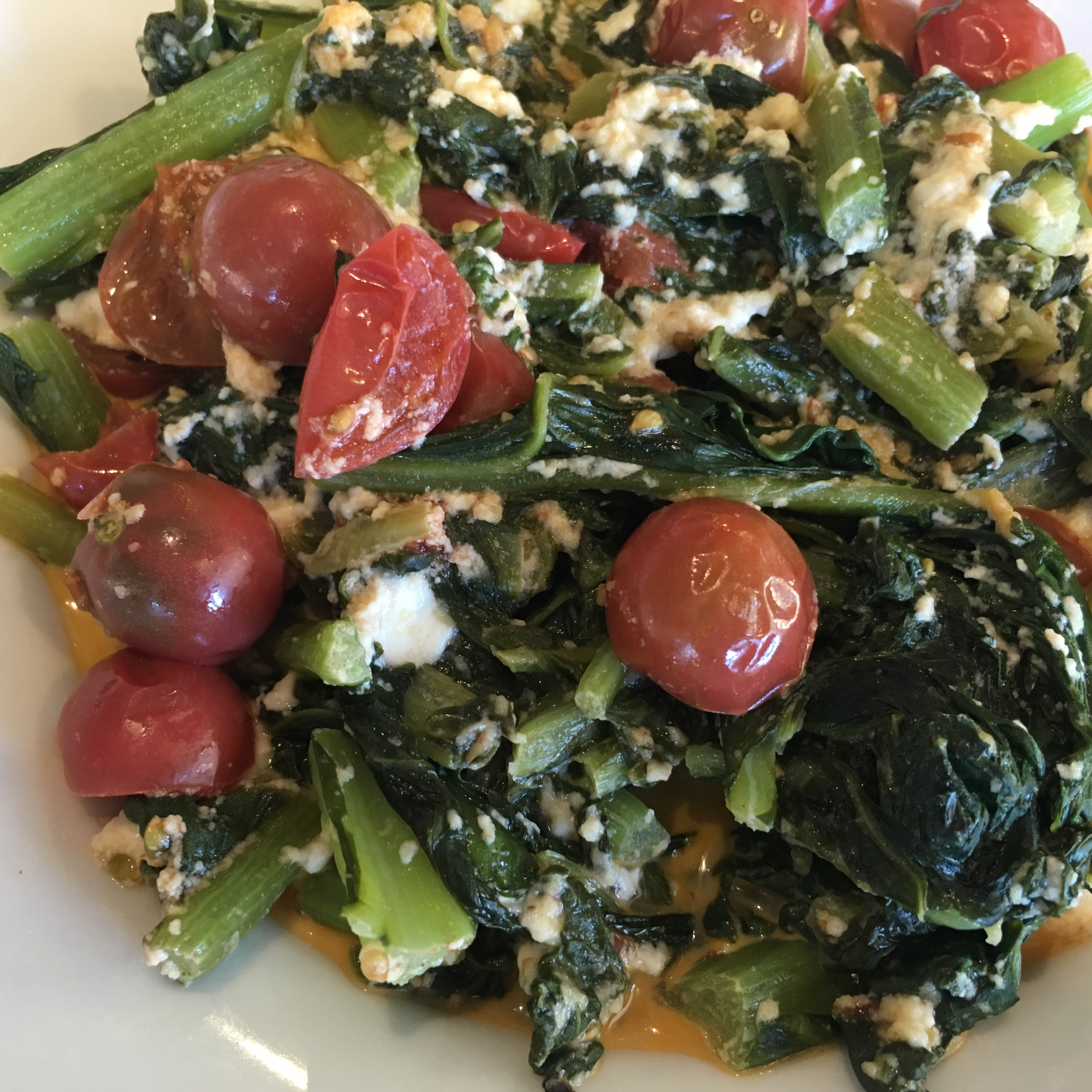 Easy Chard with Feta and Cherry Tomatoes