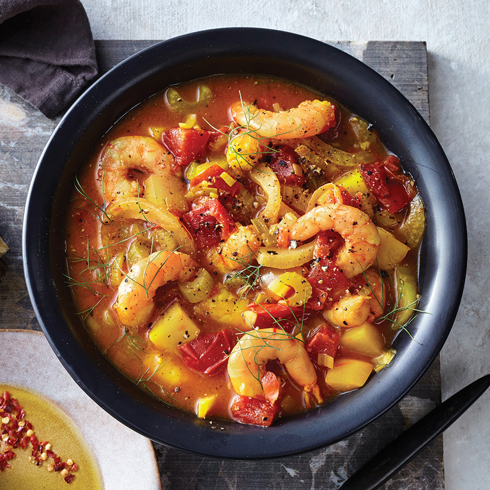 Slow-Cooker Manhattan-Style Shrimp Chowder