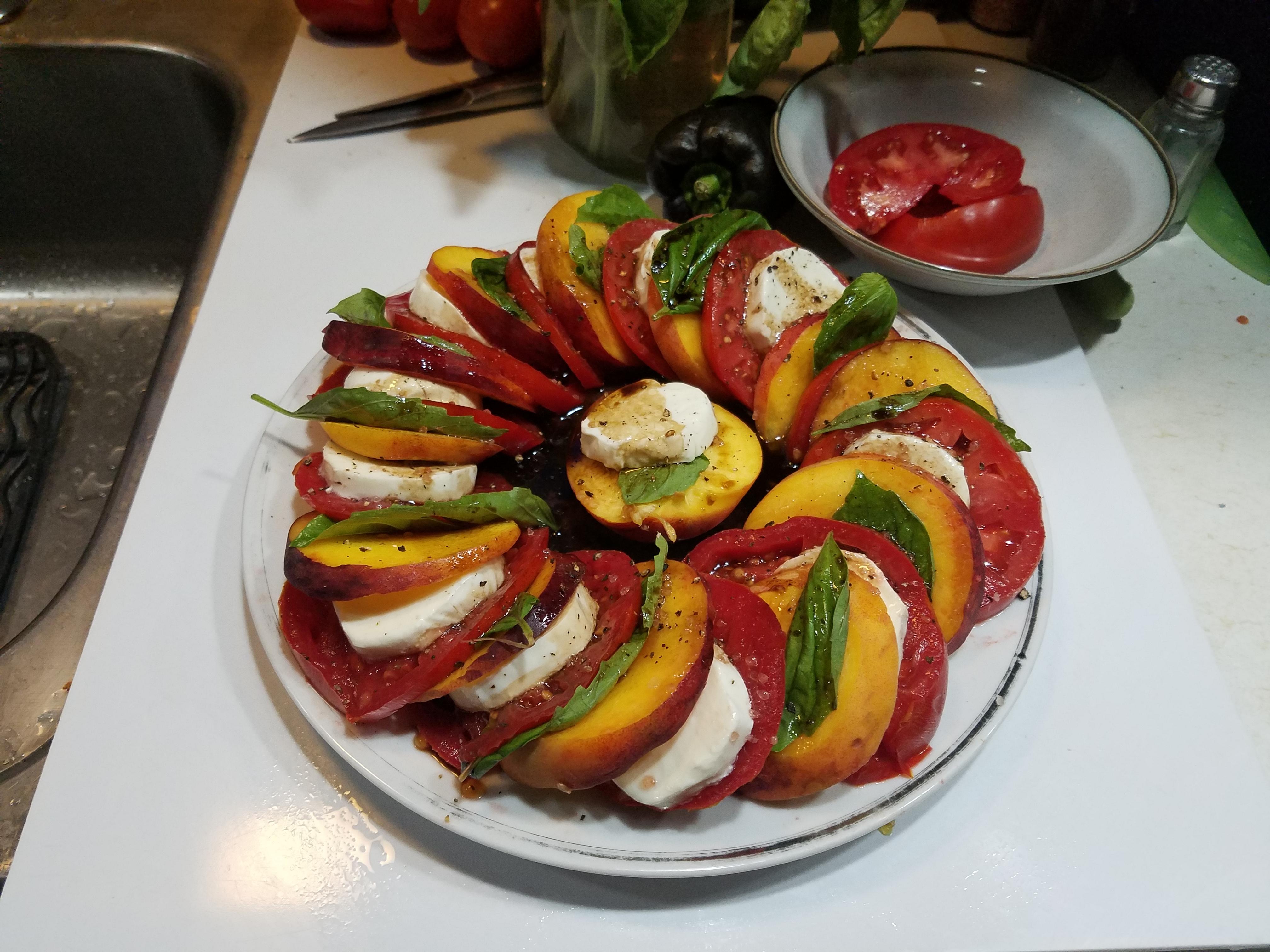 Peach and Tomato Caprese Salad Ed Schmid