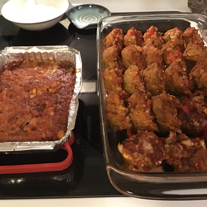 Turkey Veggie Meatloaf Cups