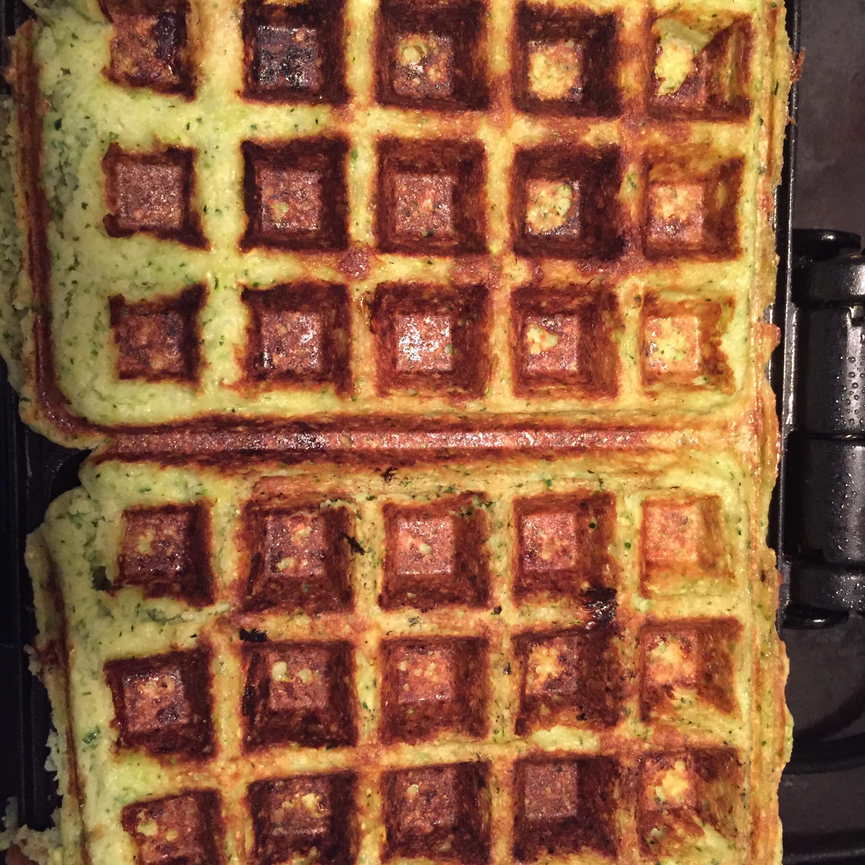 Zucchini Waffles (Green Waffles) Sara Wilson