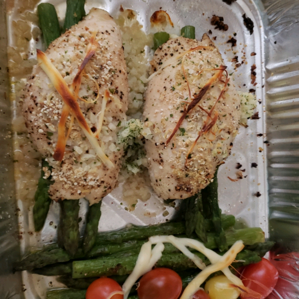 Asparagus and Mozzarella Stuffed Chicken Breasts Delilah White