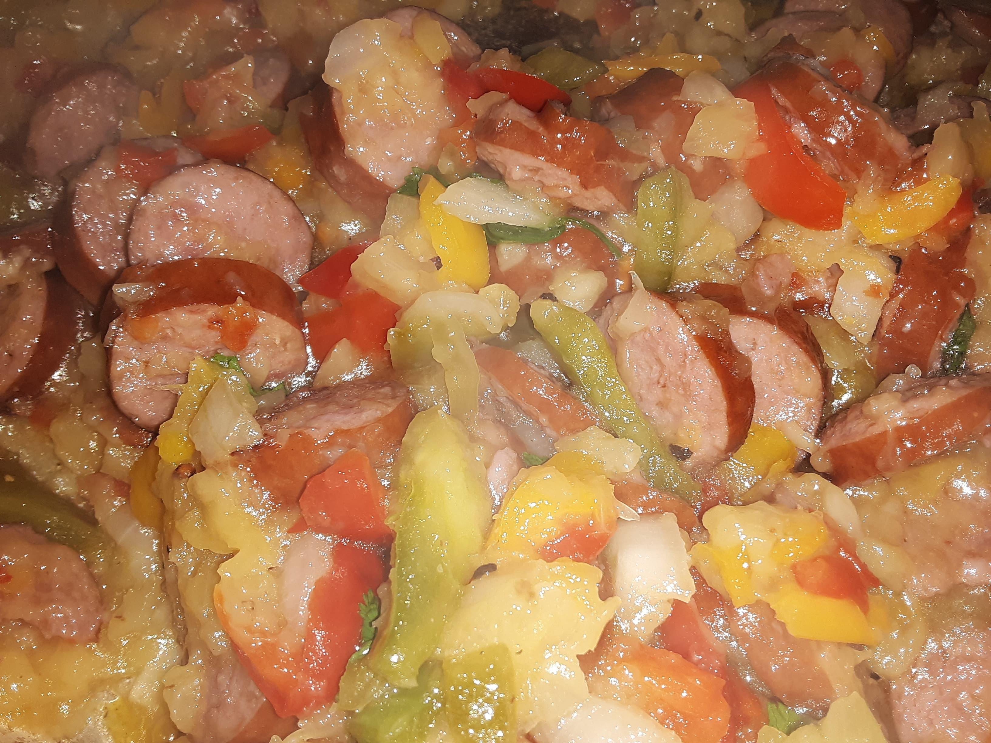 Hawaiian-Style Sausage and Rice Lyn Jeulin