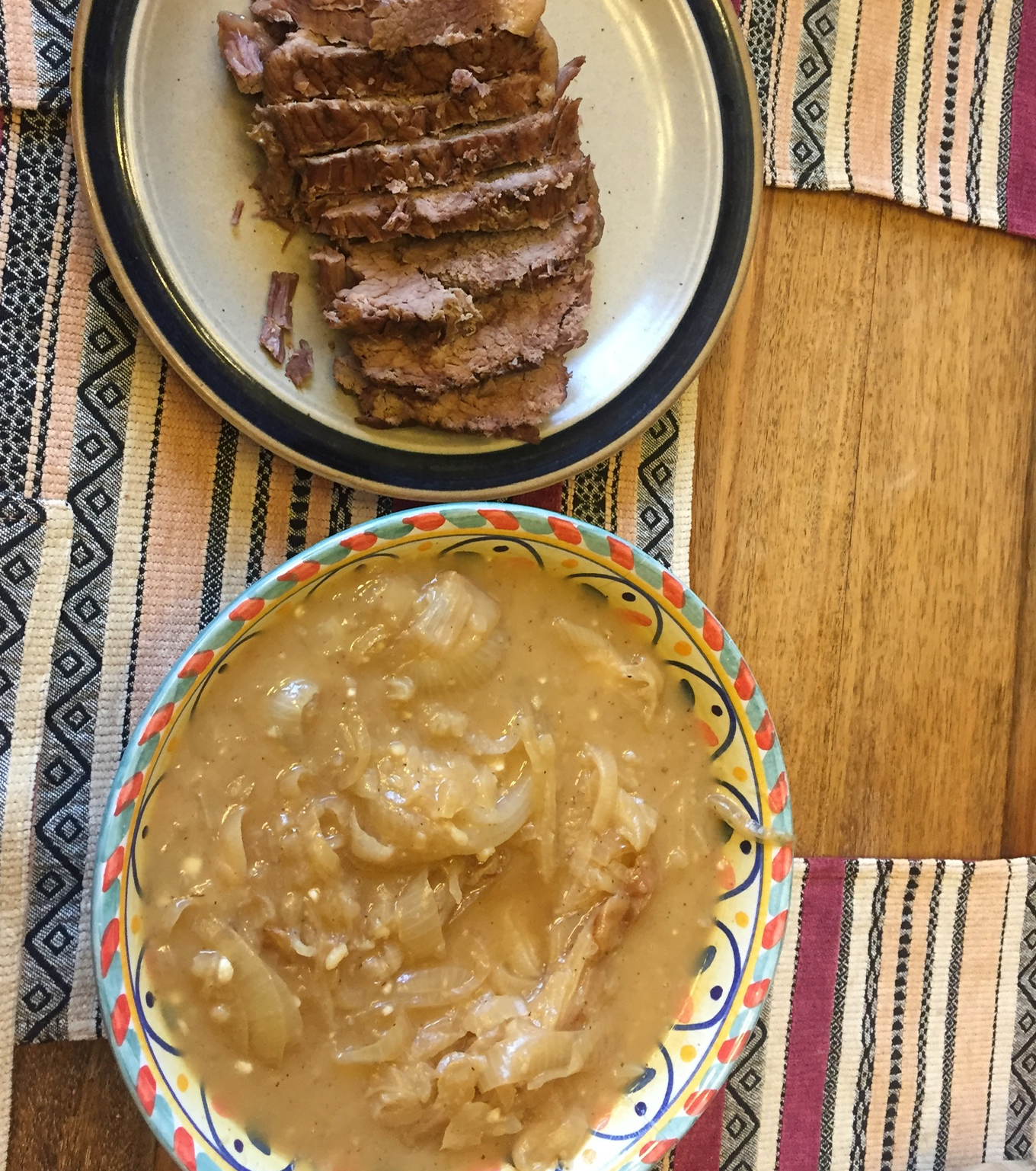 Bottom Round Roast with Onion Gravy