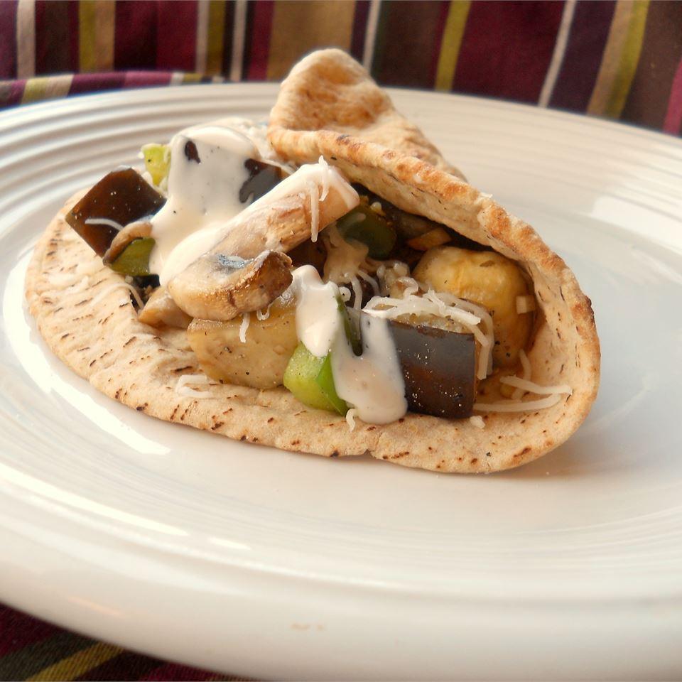 Easy Eggplant Pita
