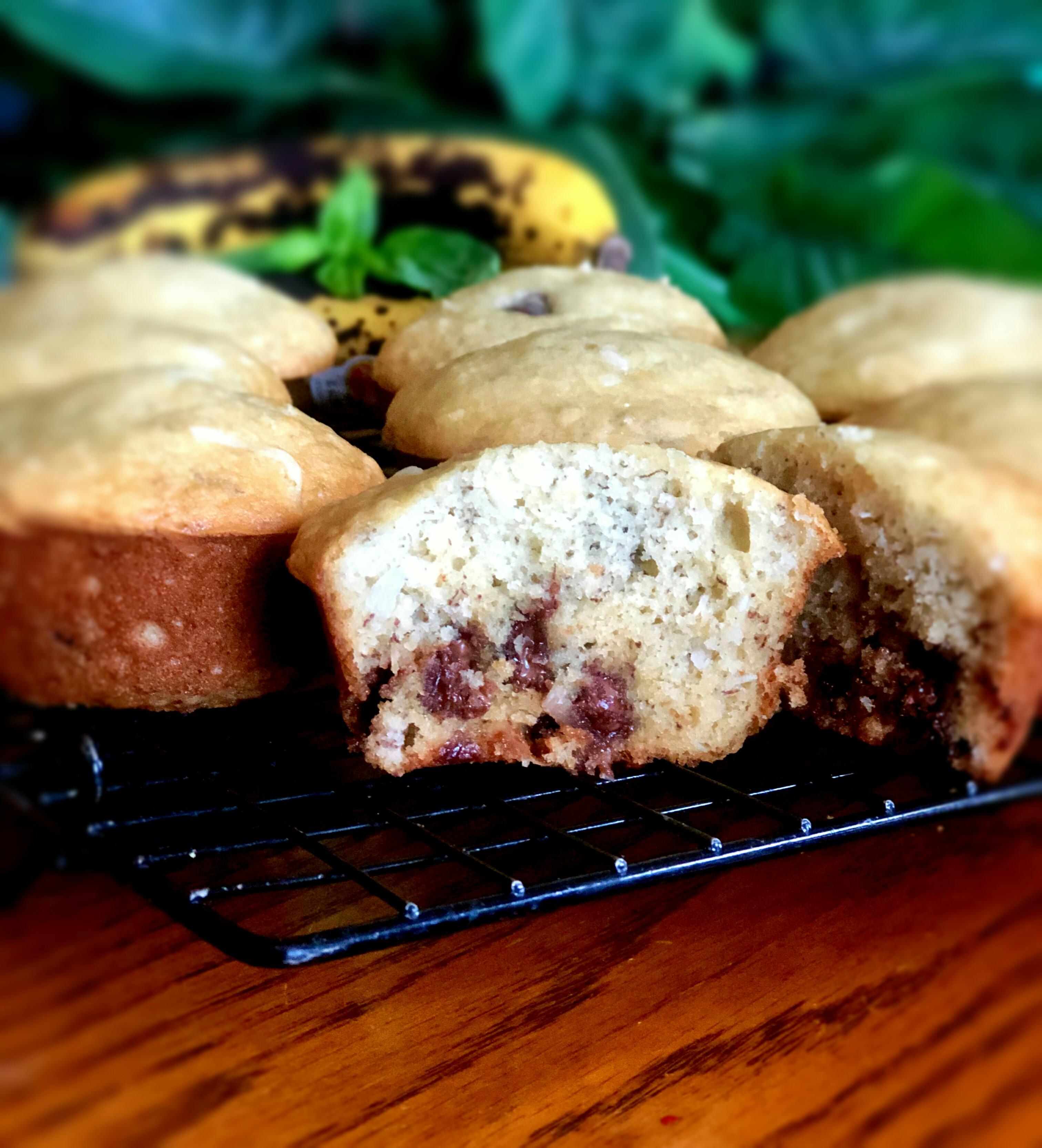 Banana Choco-Coconut Muffins