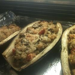 Stuffed Eggplant with Shrimp and Basil mam5016
