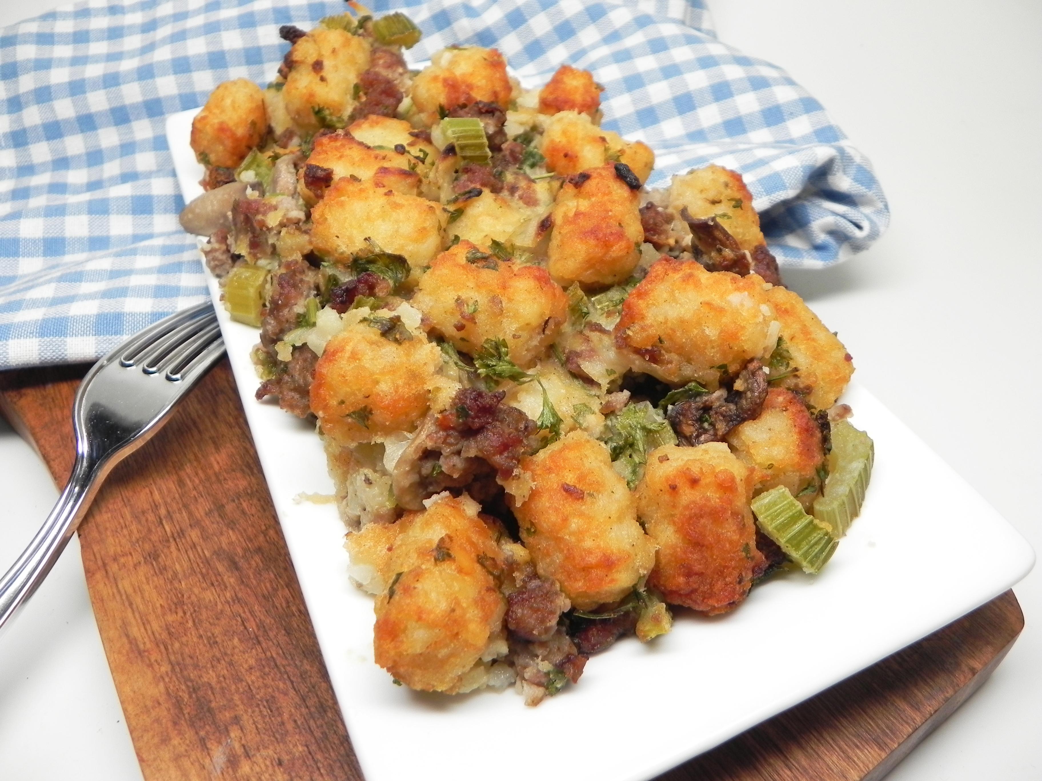 Sausage-Mushroom Tater Tot® Stuffing