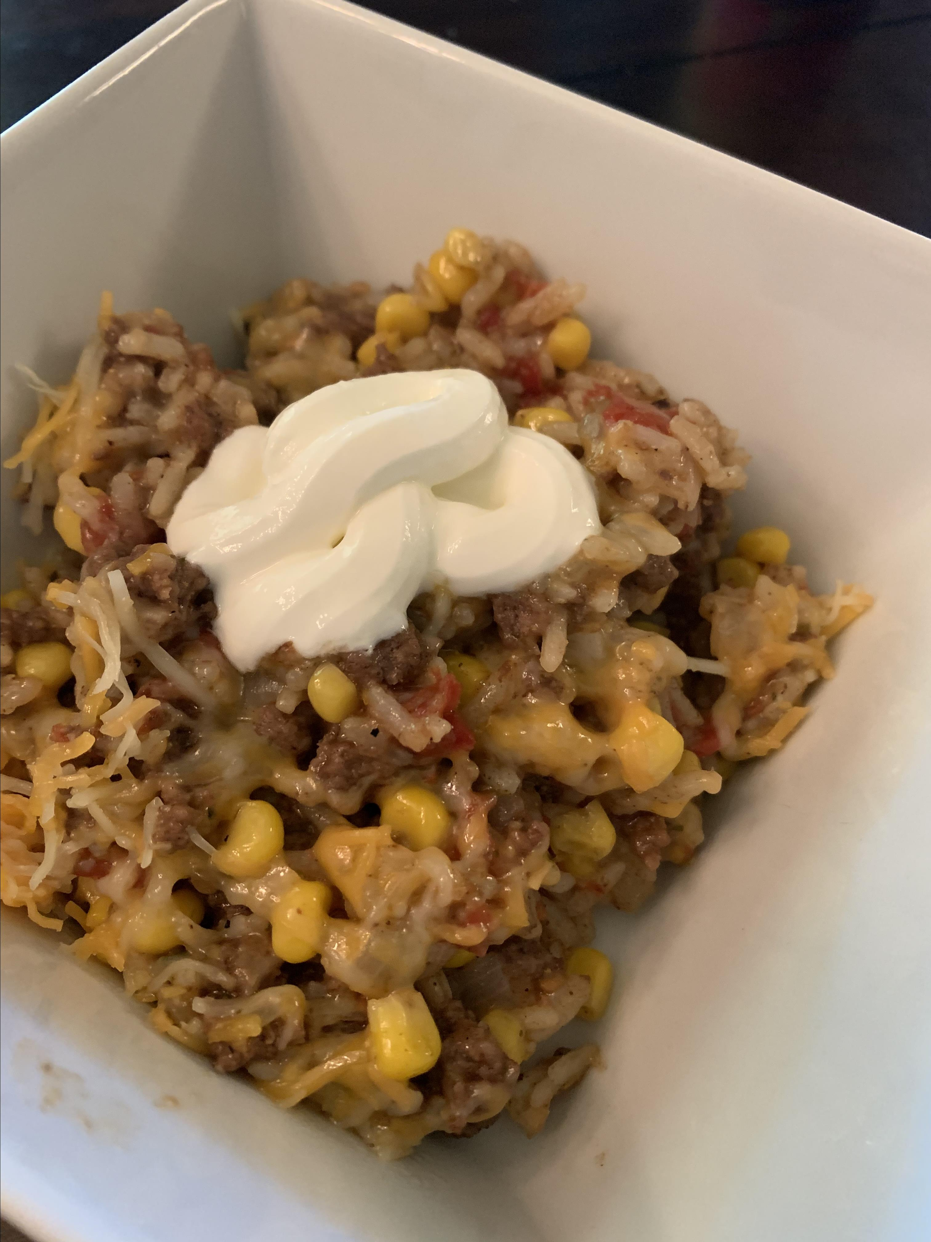 Pressure Cooker Mexican Beef Rice Kristin