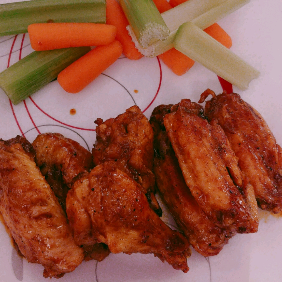 Crispy Baked Moroccan Chicken Wings with Yogurt Dip