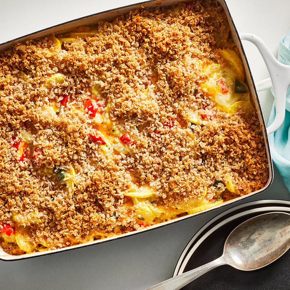 Cheesy Summer Squash Casserole Trusted Brands