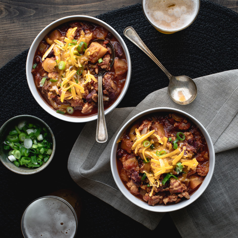 Slow-Cooker Turkey Chili with Butternut Squash Katie Webster