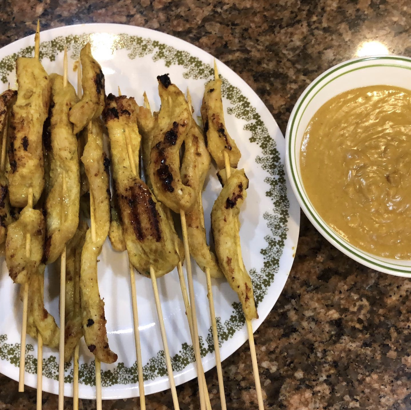 Chicken Satay With Peanut Sauce jarro