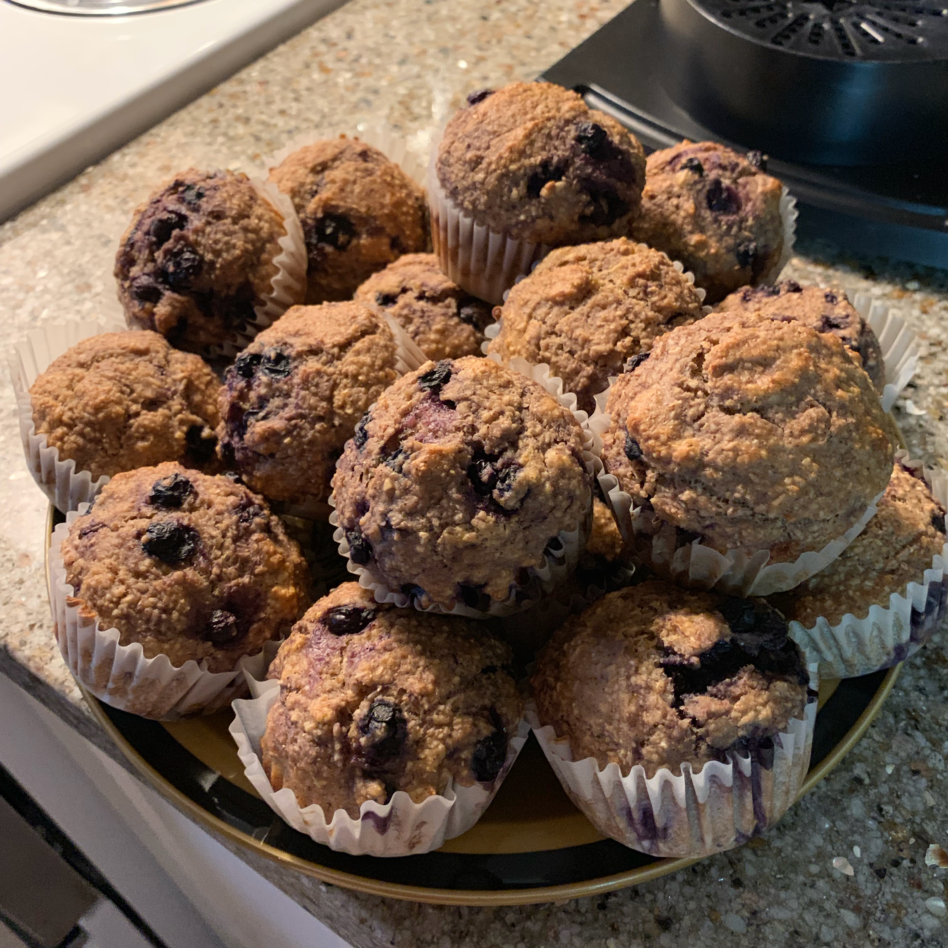 Oat and Blueberry Muffins maggie