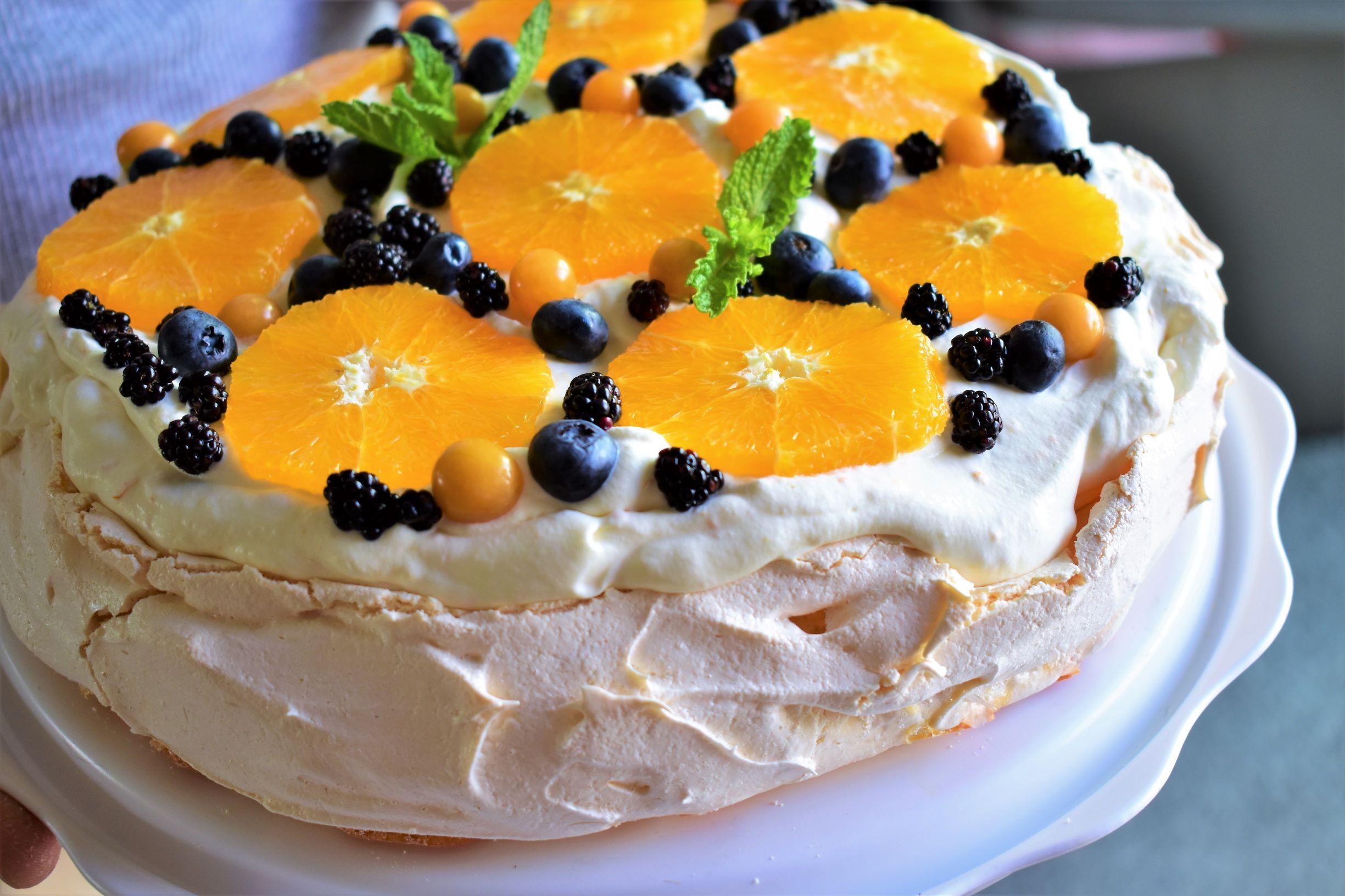 Orange-Berry Pavlova