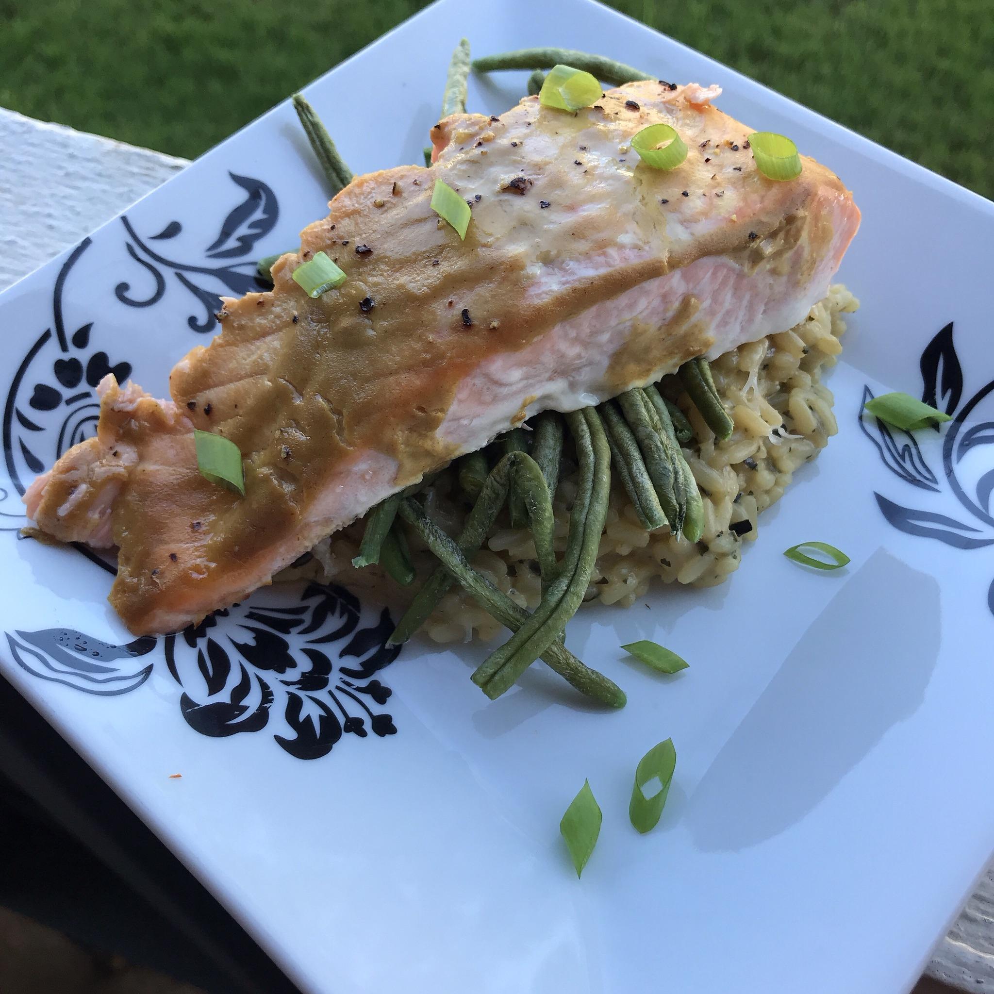 Healthy Dijon Salmon for One