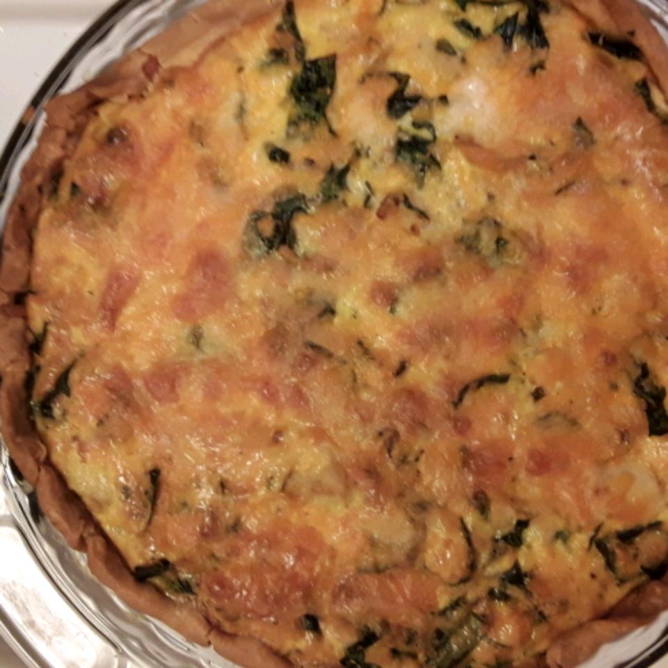 Spinach Quiche with Chicken