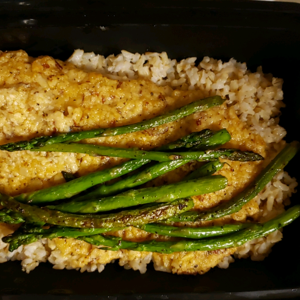Almond and Parmesan Crusted Tilapia R H