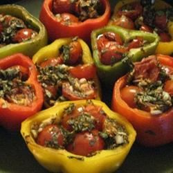 Peppers Roasted with Garlic, Basil and Tomatoes