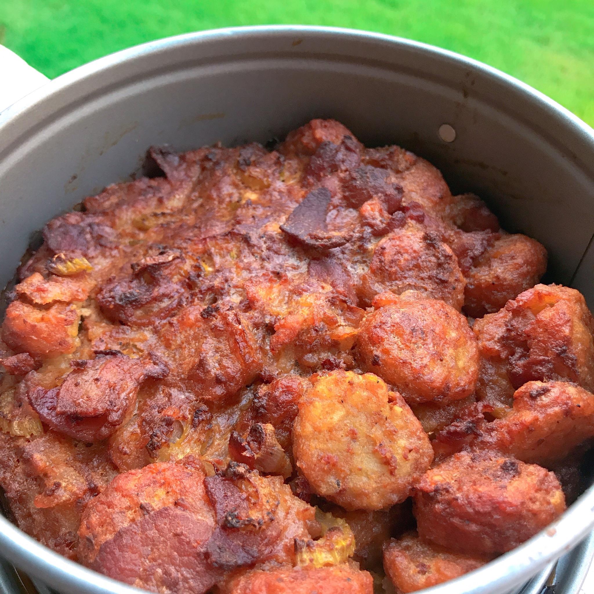 Air Fryer Bacon-Chorizo Tater Tot® Dressing