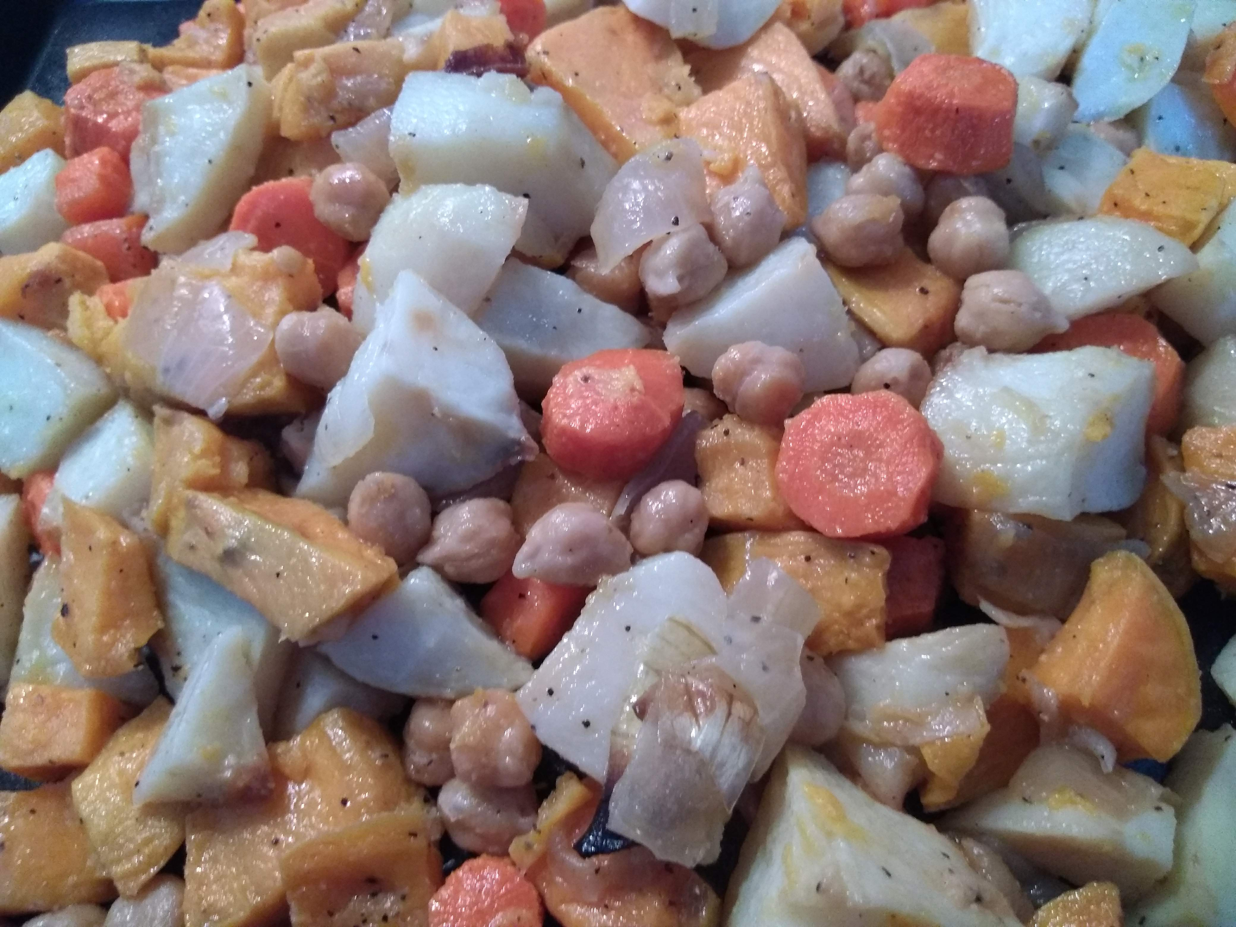 Vegetarian Sheet Pan Dinner with Chickpeas and Veggies Kimberly Rouse