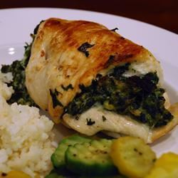 Chicken Breast Stuffed with Spinach Blue Cheese and Bacon MickeyShell
