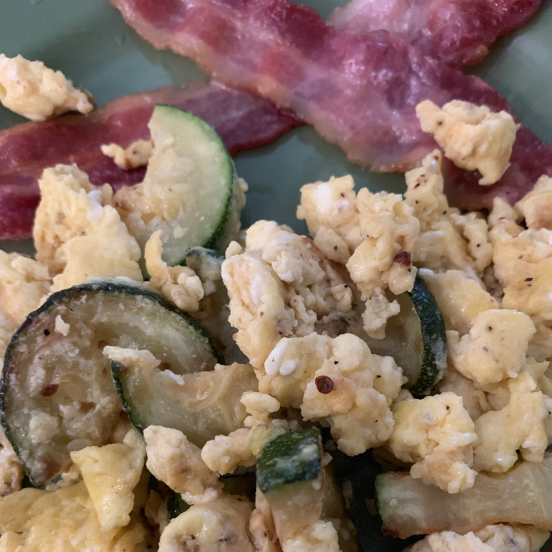 Scrambled Eggs with Zucchini