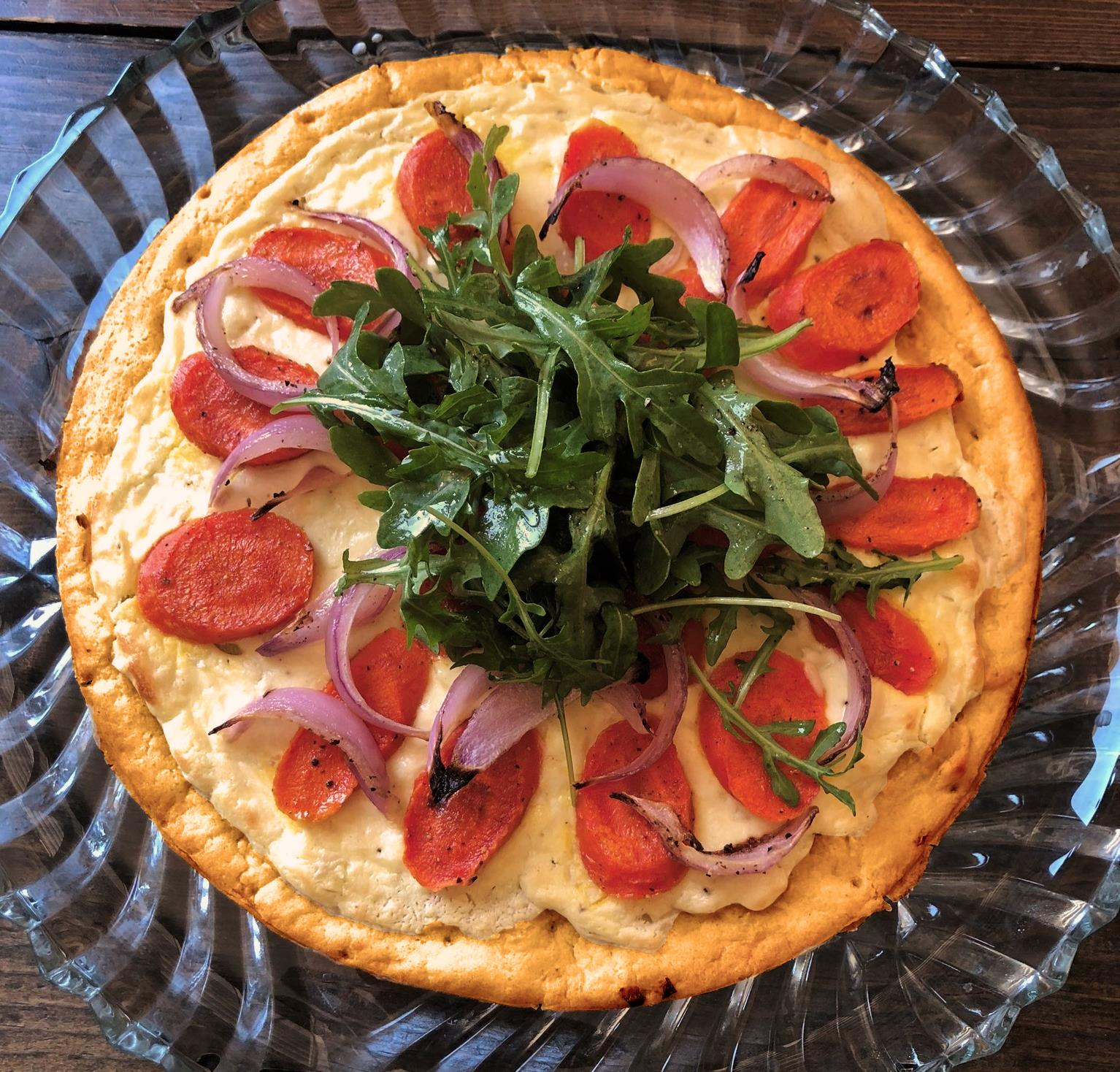 Honey-Roasted Carrot and Goat Cheese Pizza