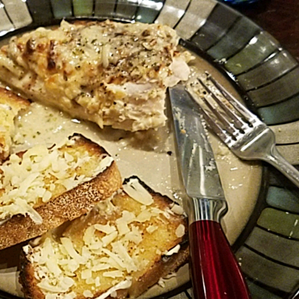 Creamy Baked Asiago Chicken Breasts The dynomite pie