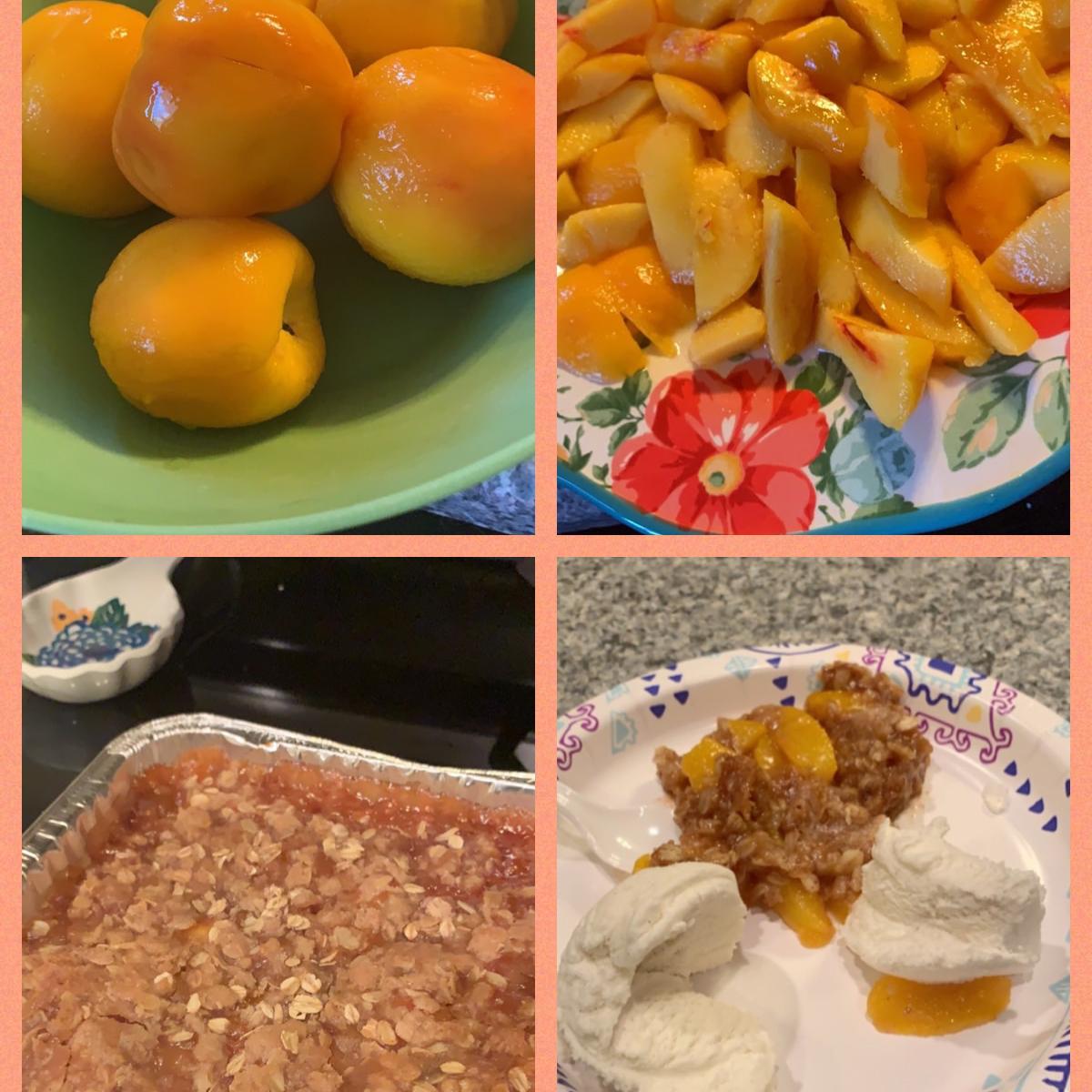 Juicy Peach Crisp