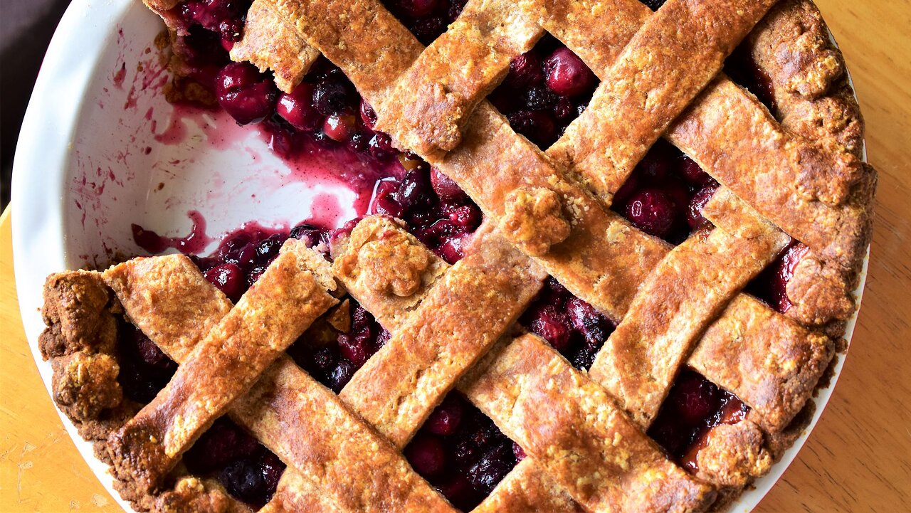 Cherry-Berry Pie with Whole Wheat Pie Crust