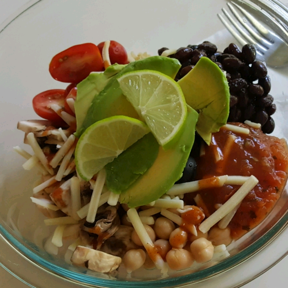 Brown Rice Bean Burrito Bowl
