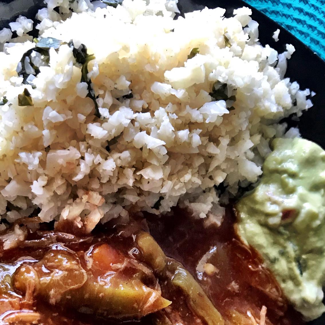 "Lime Cilantro Cauliflower ""Rice"" NewBaker"