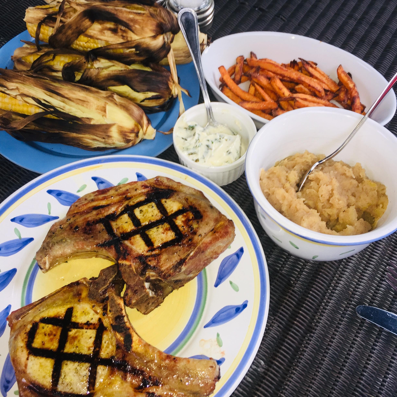 Pork Chops with Dill Pickle Marinade Jabowman1