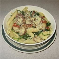 Penne Pasta with Spinach and Bacon ChristineM