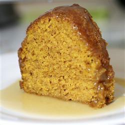 Pumpkin Cake with Orange Glaze magicallydelicious