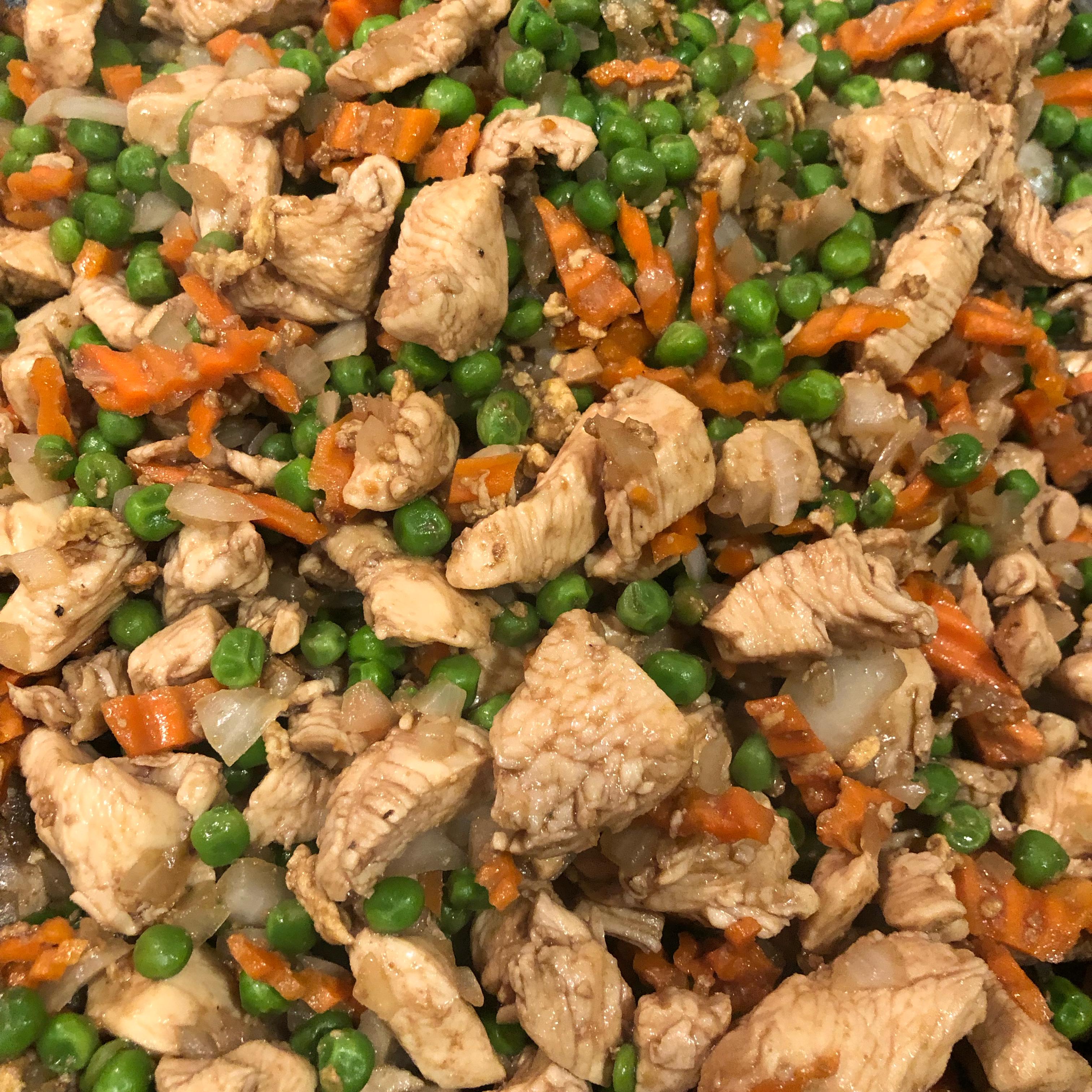 Garlic Chicken Fried Brown Rice