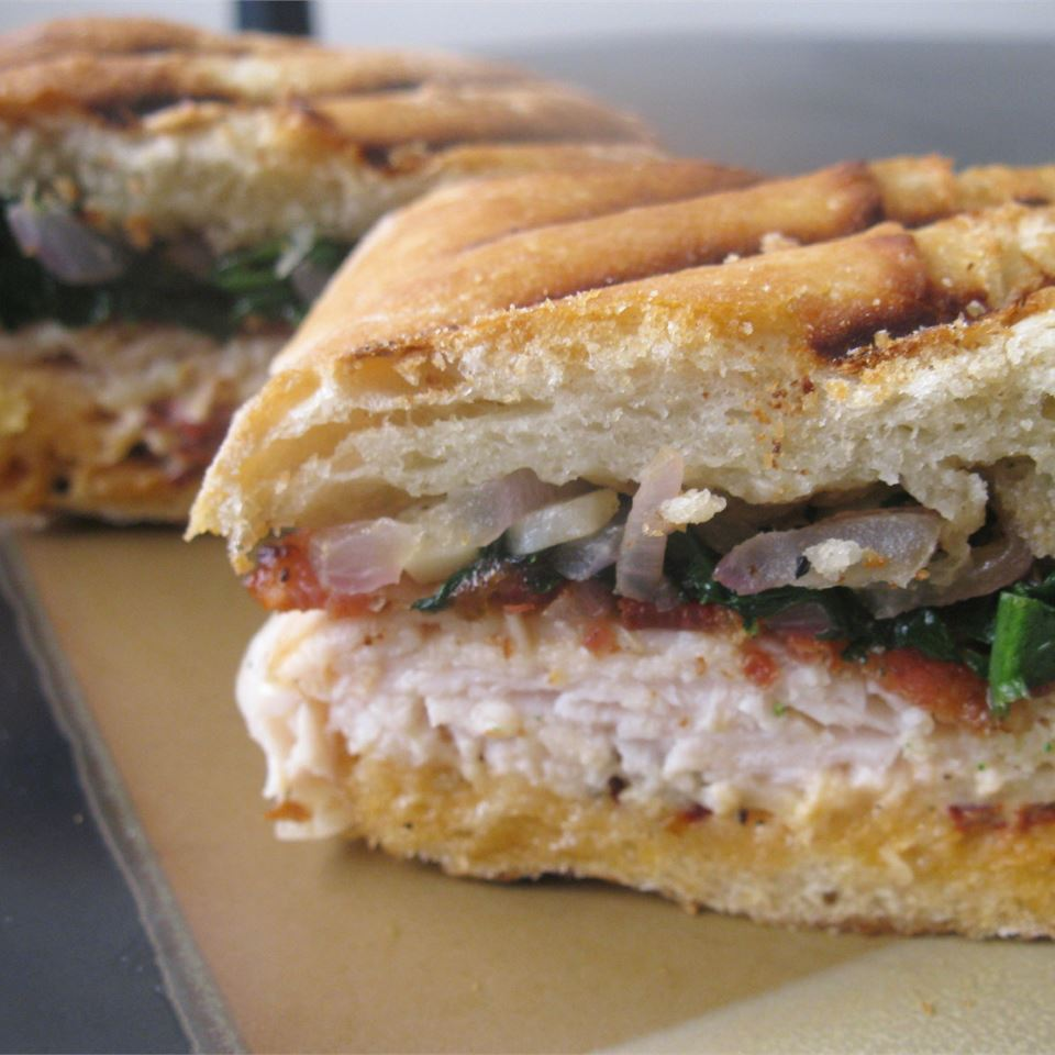 Turkey and Bacon Panini with Chipotle Mayonnaise