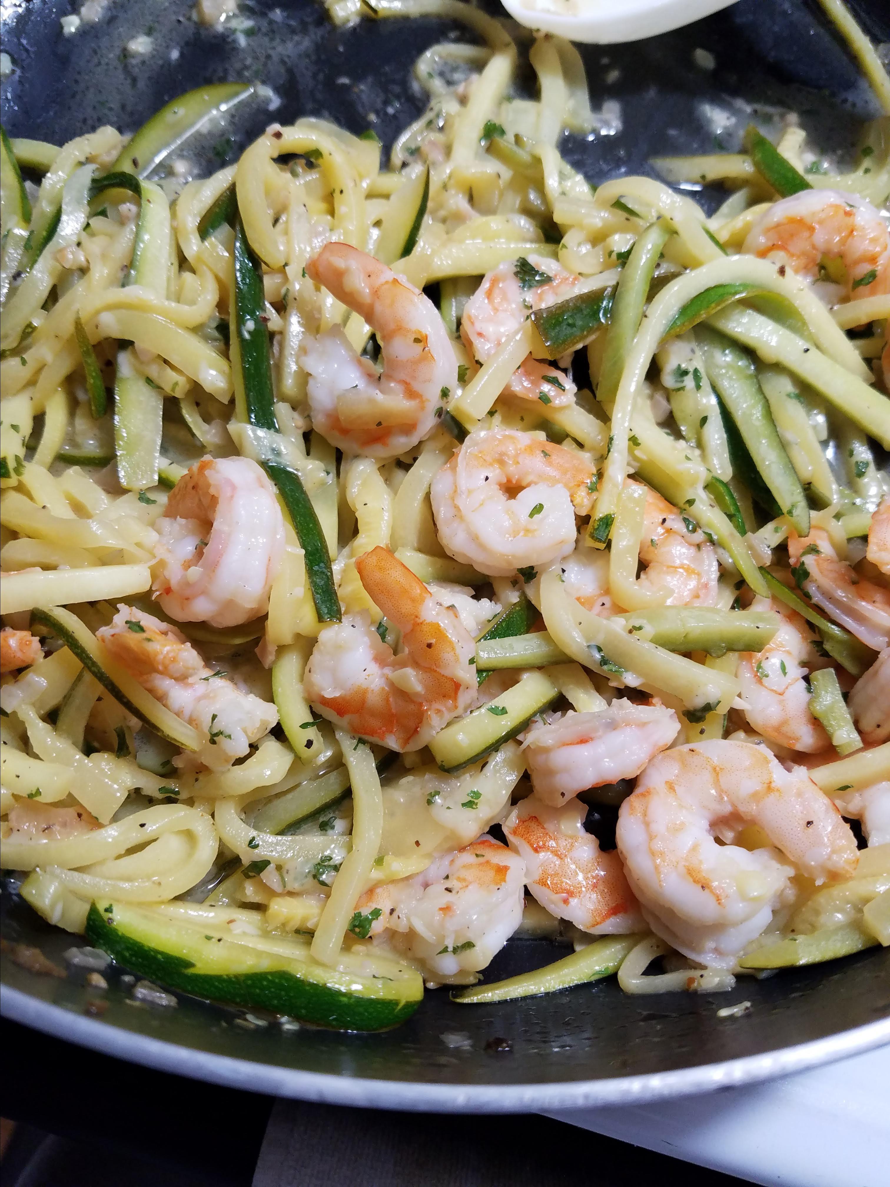 Zucchini Noodle Shrimp Scampi